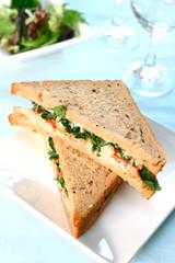 delicious prawn/crayfish sandwich