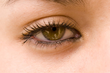 womans eye in closeup
