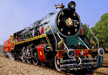 india: old steam train