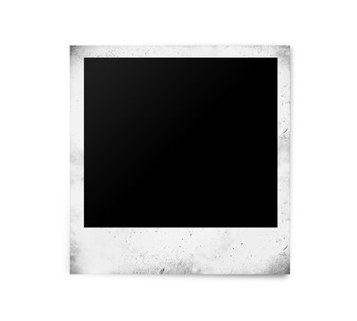 aged polaroid photo paper