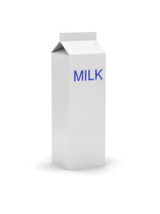 gable top carton with a label - milk
