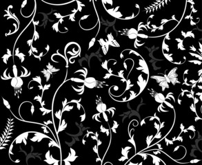 abstract floral pattern, vector