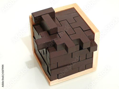 """Casse Tete En Bois Solution Cube - """"casse t u00eate tetris cube"""" photo libre de droits sur la banque d'images Fotolia com Image 2679414"""