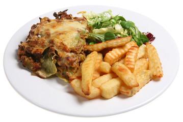 lasagne & chips