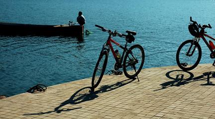 bike on bank