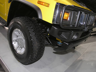 yellow heavy duty suv