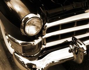 Fototapete - Classic American Car In Sepia