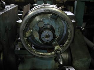wheel on a old machine