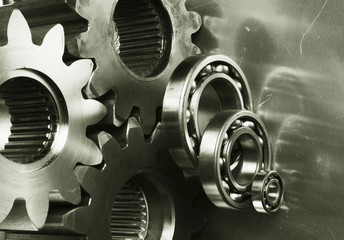 large gear-machinery in bronz