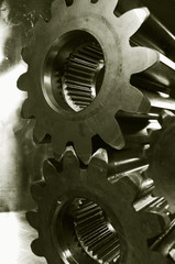 gears in old bronze tone