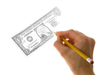 Как рисовать деньги