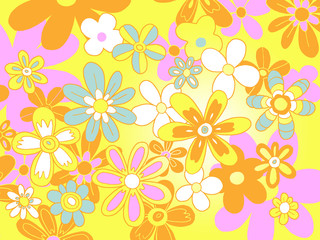 fleurs pop fond