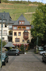 picturesque buildings in mosel wine region of germ