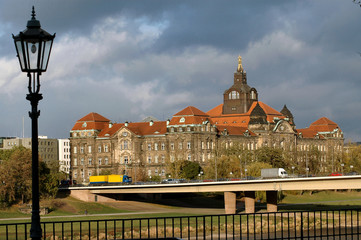 government building in dresden, germany