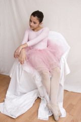 portret of ballerina