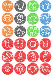 pictos zodiaque chinois