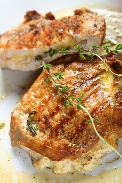 pork chops stuffed with cheese