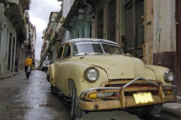 Garden Poster Cars from Cuba vintage car