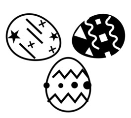 black and white eggs to easter