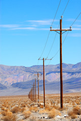 power lines death valley