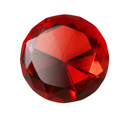 red gem isolated