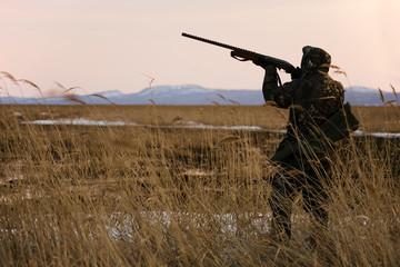 Türaufkleber Jagd hunter