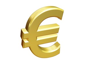 gold isolated euro