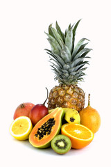 assorted isolated fruit