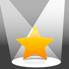spotlit star