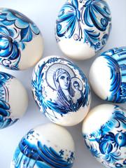 beautiful blue easter eggs