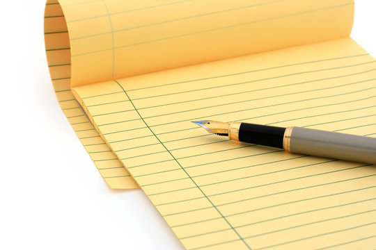 legal pad (clipping path)