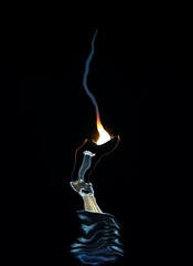 picture of a burning bulb