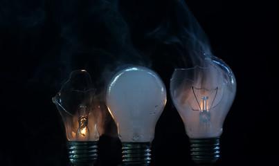 cracked bulbs
