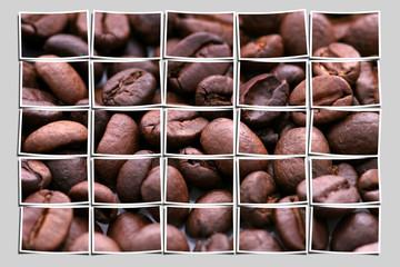 collage kaffeebohnen