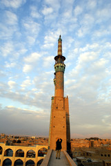 sunset and minaret