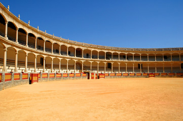 the most beautiful bullfight arena of spain locate