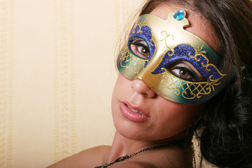 sexy woman in mask
