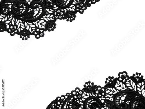 Черные фон с белыми кружевами