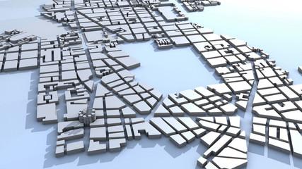 plan de ville maquette