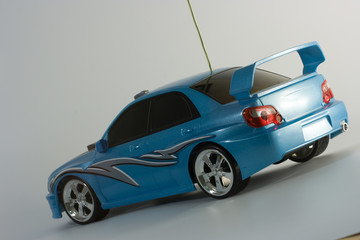 Tuinposter Snelle auto s radio controlled toy car