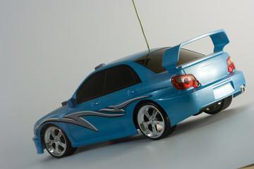 Deurstickers Snelle auto s radio controlled toy car