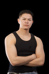 muscle shirt man