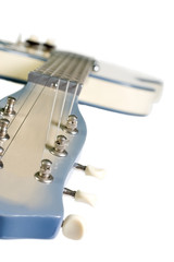 guitar trimmed in blue
