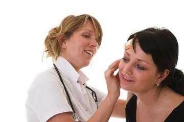 examening the patient