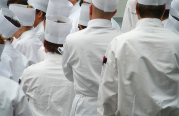 group of chefs in uniform whites