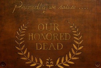 saluting the dead