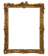 antique wooden golden frame