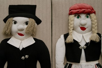 two stuffed dolls