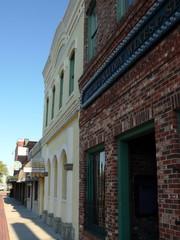 old buildings on city street