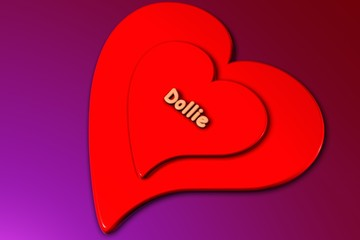 dollie - herz in 3d gerendert (liebe)